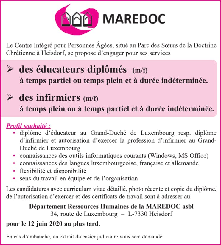 Annonce Maredoc LW 16 05 EDUC INF